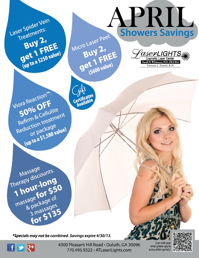 Laser Lights April 2013 specials