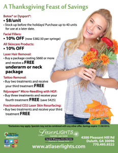 Laser Lights Cosmetic Laser Center November 2015 specials