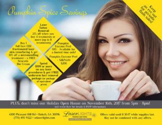 Laser Lights Cosmetic november 2017 skin care specials